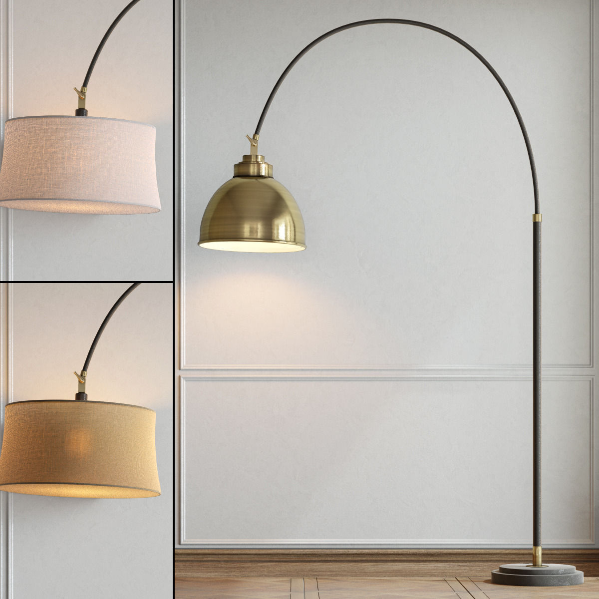 Pottery Barn Winslow Arc Sectional Floor Lamp 3d Model Max