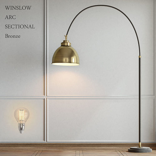 Pottery Barn Winslow Arc Sectional Floor Lamp 3D model MAX OBJ 3DS ...