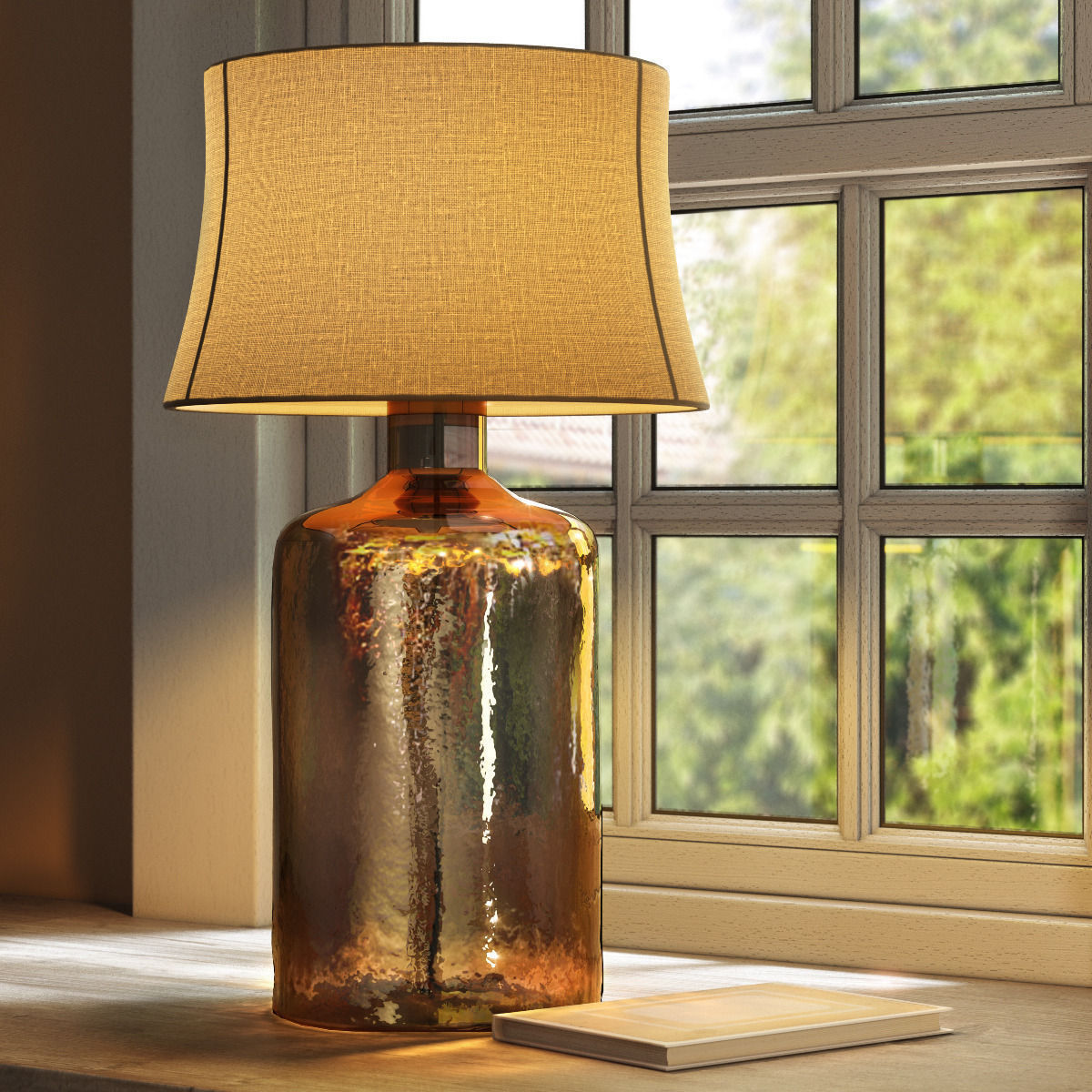 Pottery Barn Clift Glass Table Lamp Base Espresso 3d Model Max