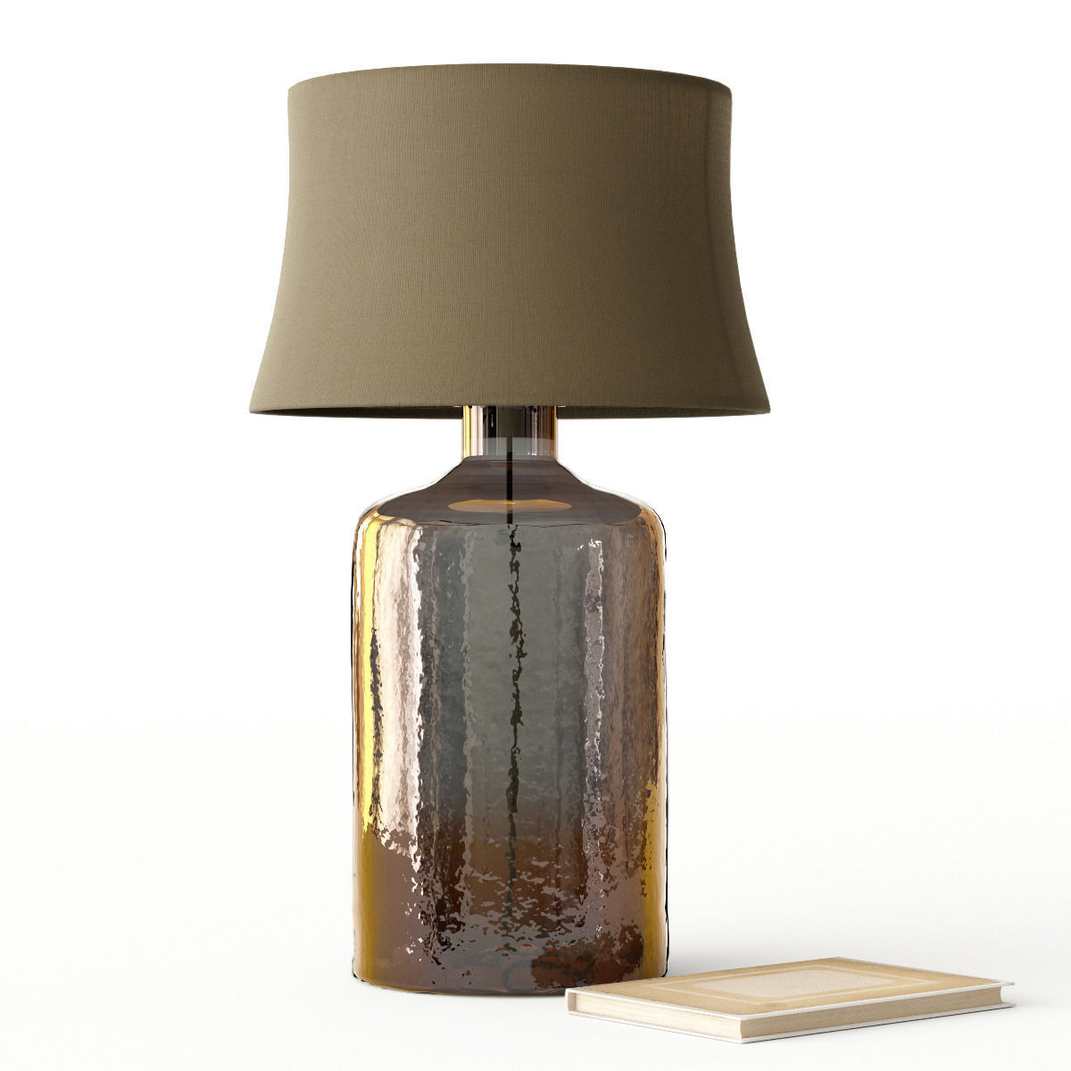 ... Pottery Barn Clift Glass Table Lamp Base   Espresso 3d Model Max Obj  3ds Fbx Mtl ...