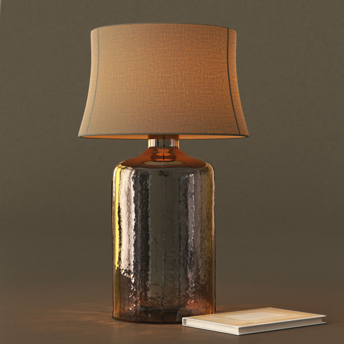 Pottery Barn Clift Glass Table Lamp Base Espresso 3d