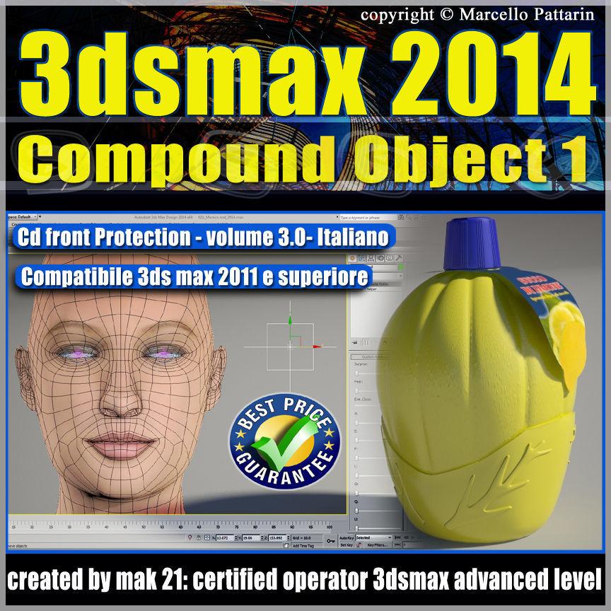 3dsmax 2014 Compound Object 1 vol 3 Italiano cd front