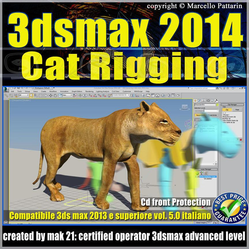 3ds max 2014 Cat Rigging v 5 Italiano cd front