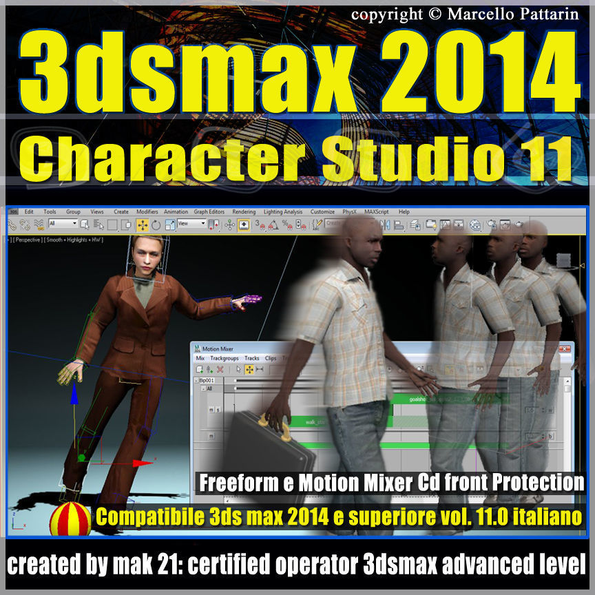 3ds max 2014 Character Studio v 11 Italiano cd front