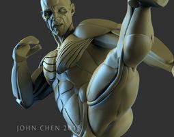 3D male Muay Thai pose