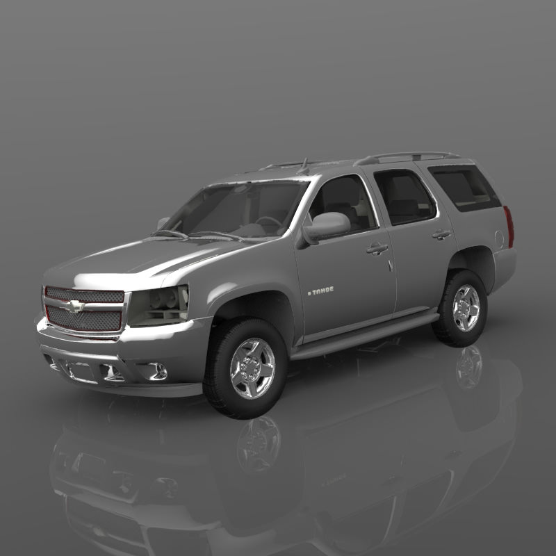 chevrolet tahoe 2007 3d model obj. Black Bedroom Furniture Sets. Home Design Ideas
