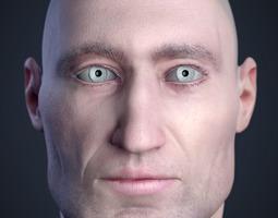 3d printable model cranial facial reconstruction - european male head sculpt