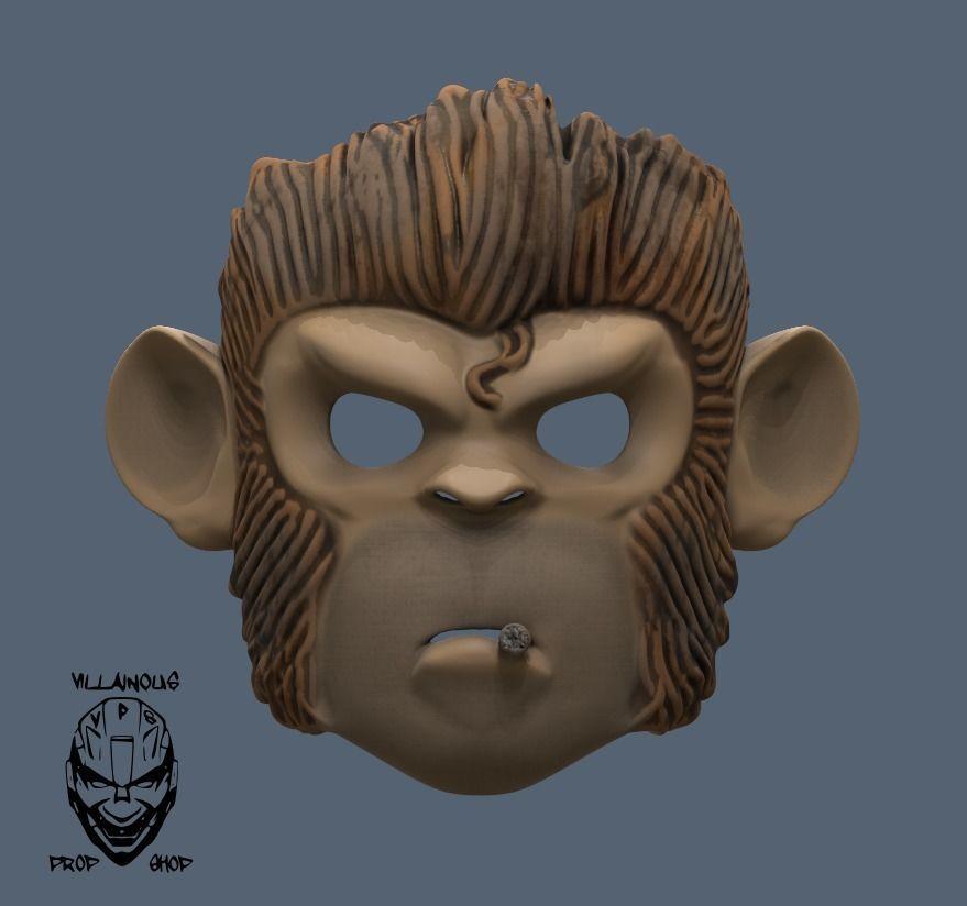 Space Monkey  Pogo Mask