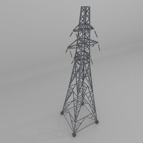 column power lines 3d model obj 3ds fbx blend dae x3d 1