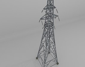 Column Power Lines 3D model