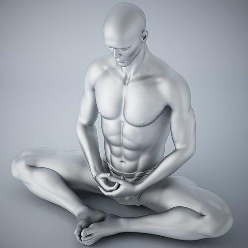 man yoga 012 3d model obj mtl stl 1
