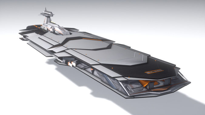 isa heavy cruiser 3d model obj mtl 1
