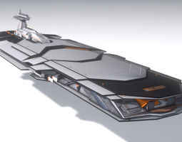 ISA Heavy Cruiser 3D Model