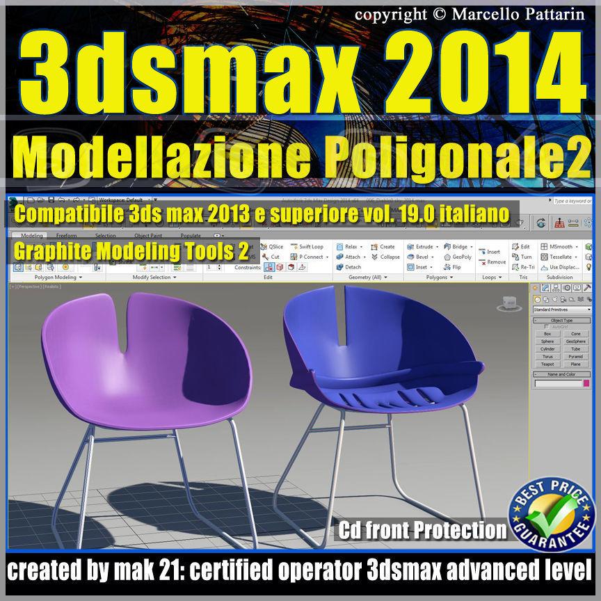 3ds max 2014 Modellazione Poligonale v19 Italiano cd front