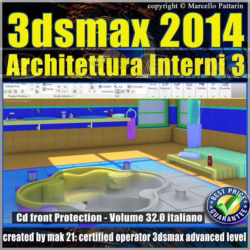 3ds max 2014 Architettura Interni 3 vol 32 Italiano cd front
