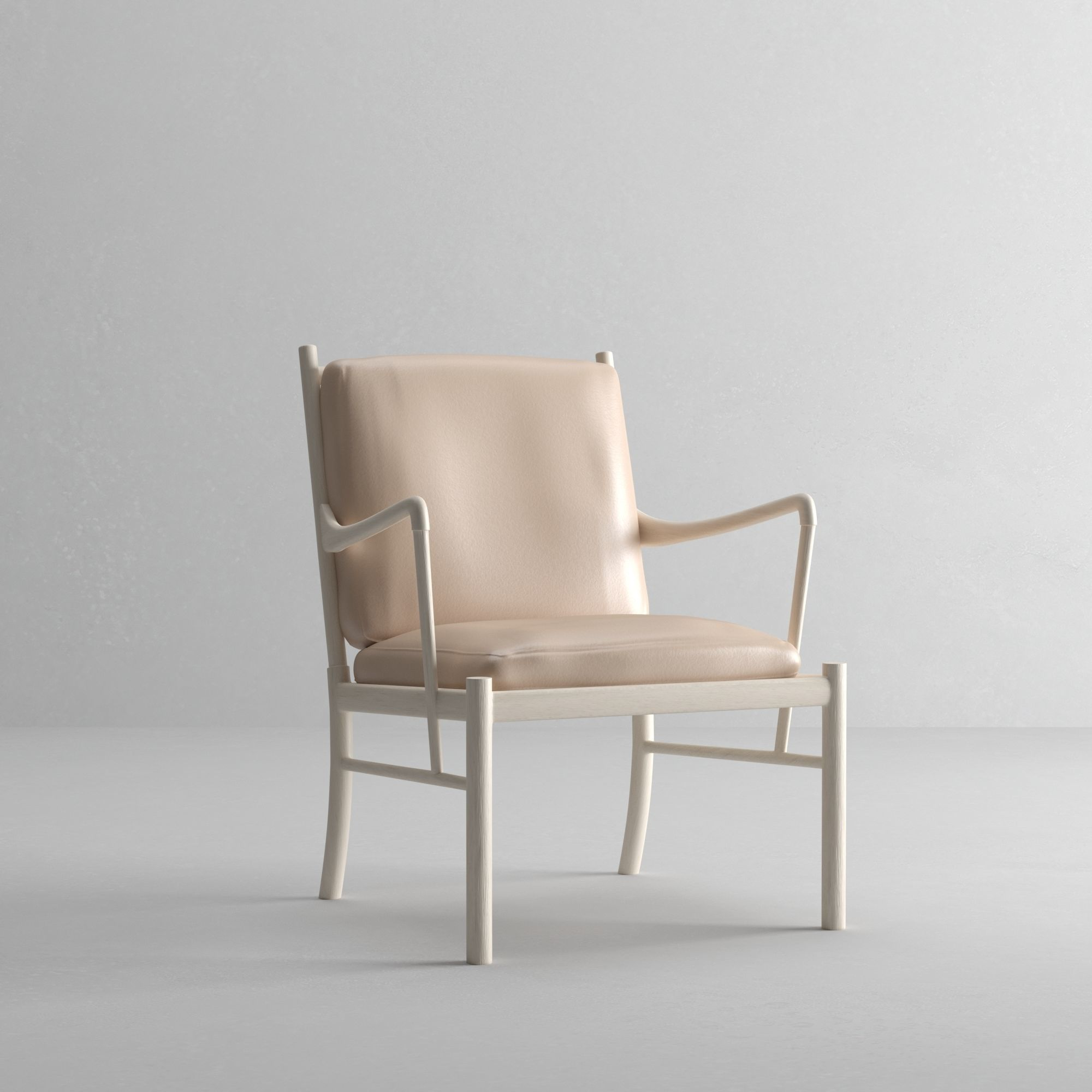 Groovy Carl Hansen Colonial Chair 3D Model Ibusinesslaw Wood Chair Design Ideas Ibusinesslaworg