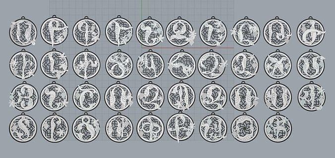 Armenian Letters Pendants