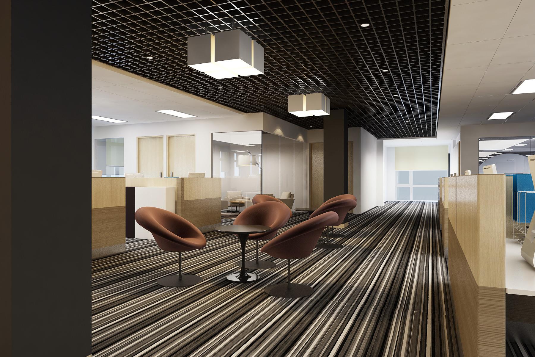 Detailed Office Building Interior Scenes 3d Model Max
