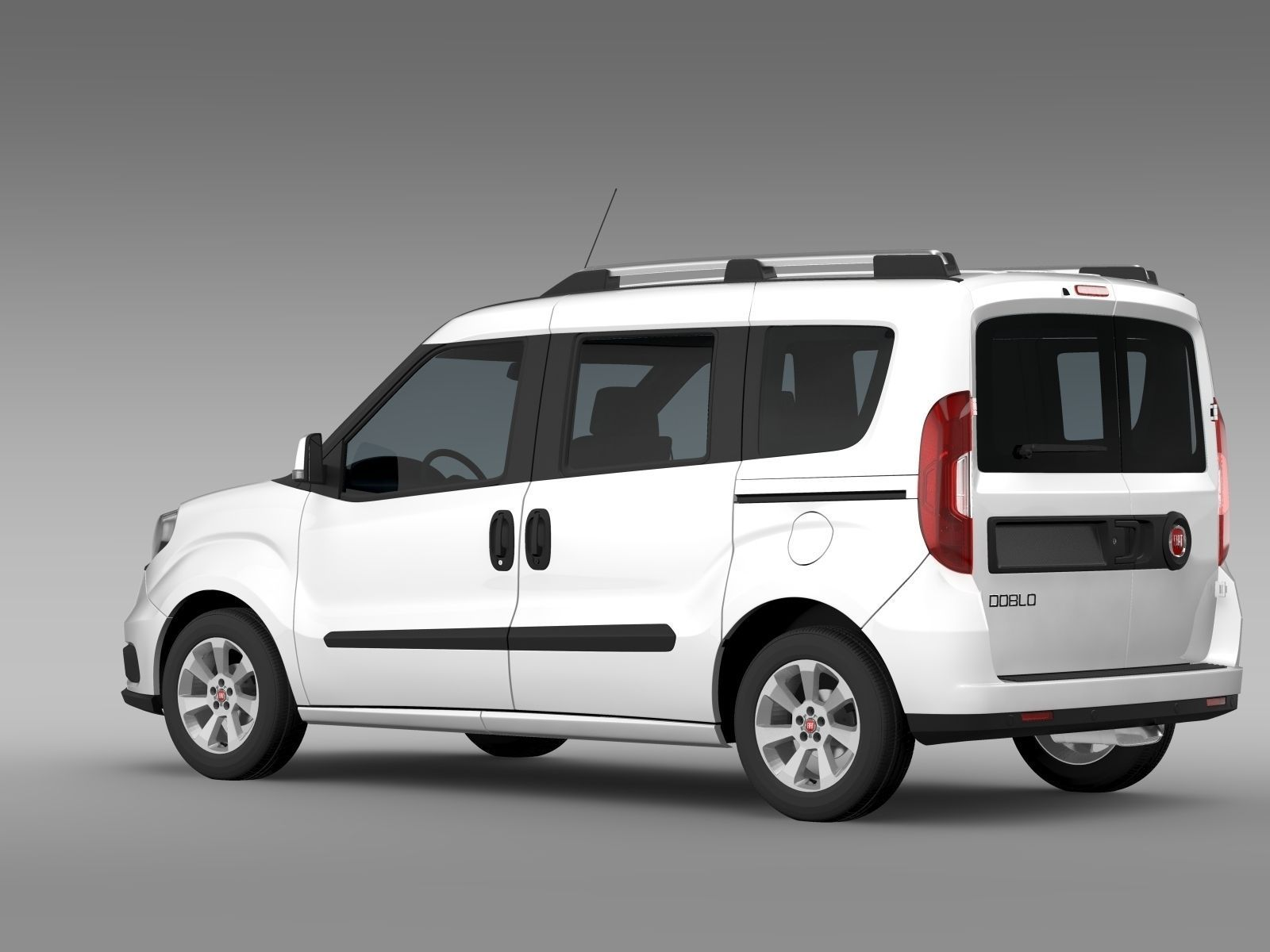 fiat doblo 263 uk spec 2015 3d model max obj 3ds fbx c4d lwo lw lws. Black Bedroom Furniture Sets. Home Design Ideas