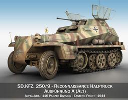 SD KFZ 250 9 - Reconnaissance Halftruck - 116 PzDiv 3D Model