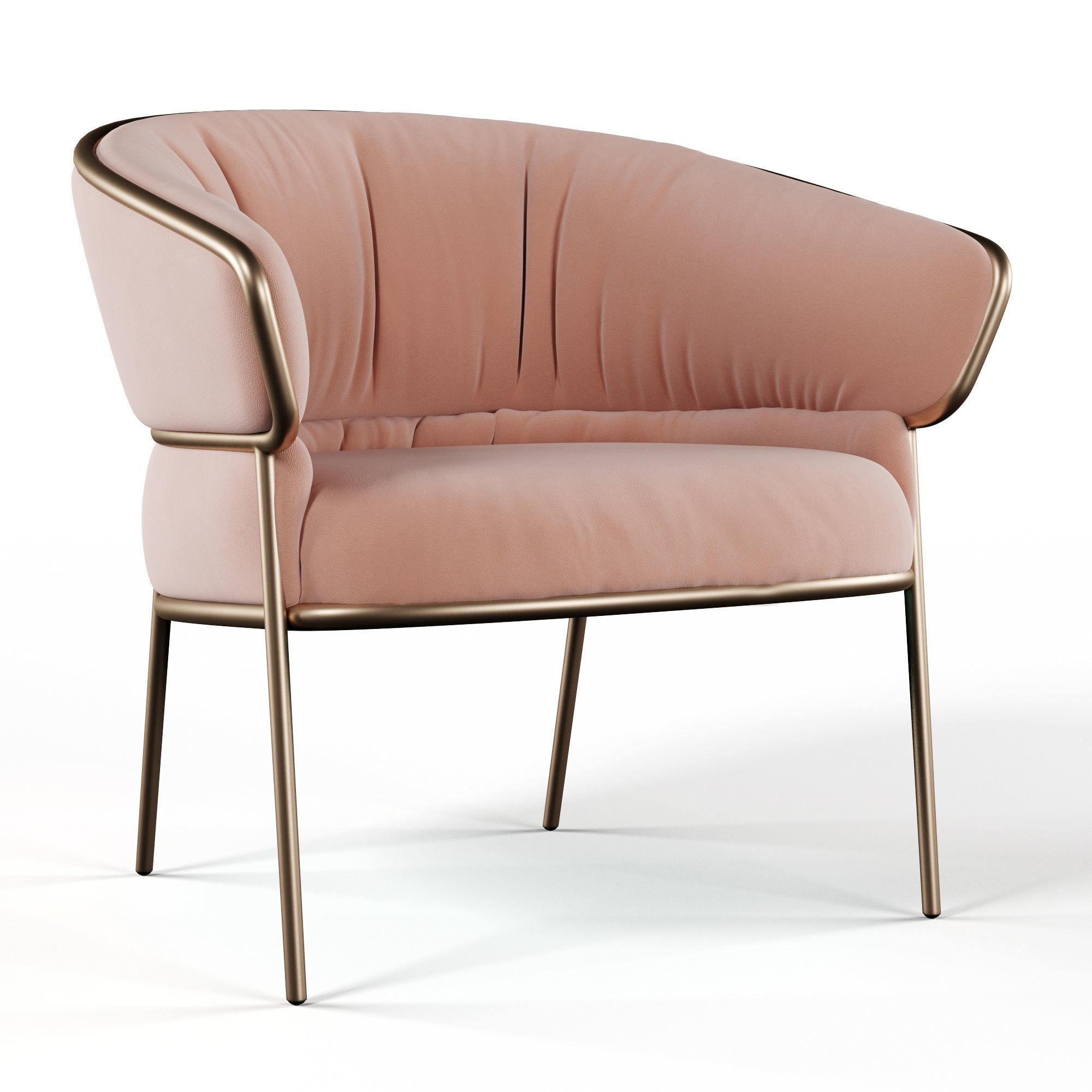 SHU-YING Fabric lounge chair