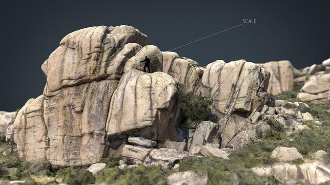 mountain rocks 9 3d model max obj mtl fbx ma mb blend 1