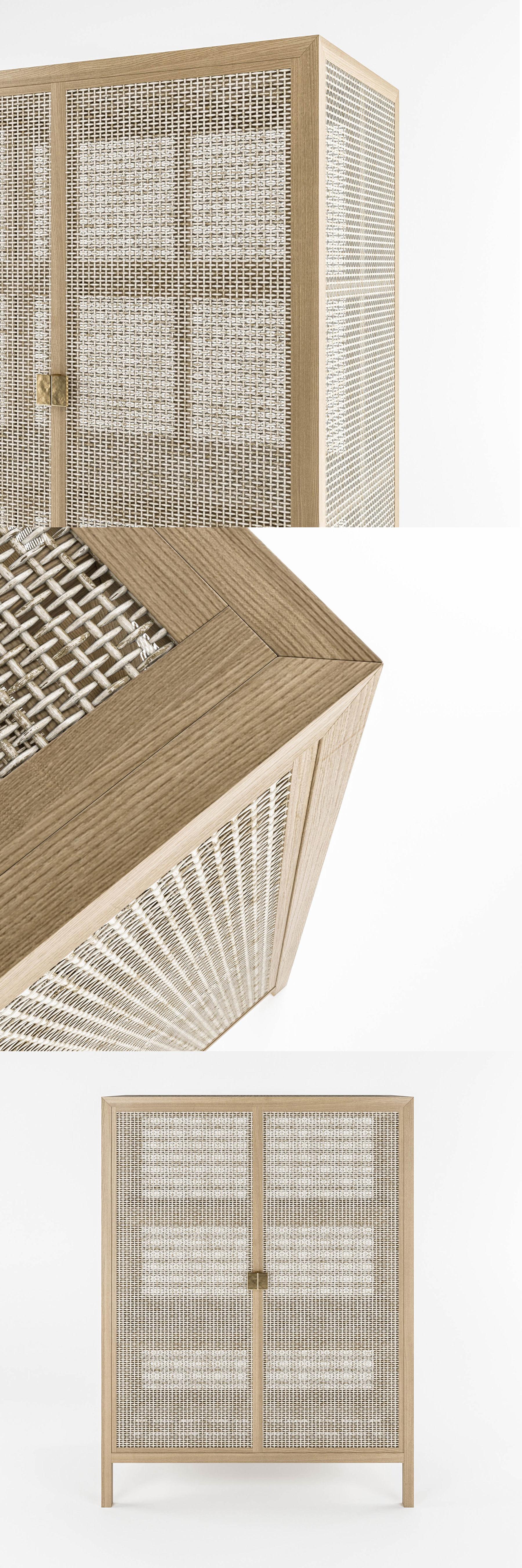 Ikea Stockholm Wicker Chest Of Drawer Model Max Obj Mtl Fbx