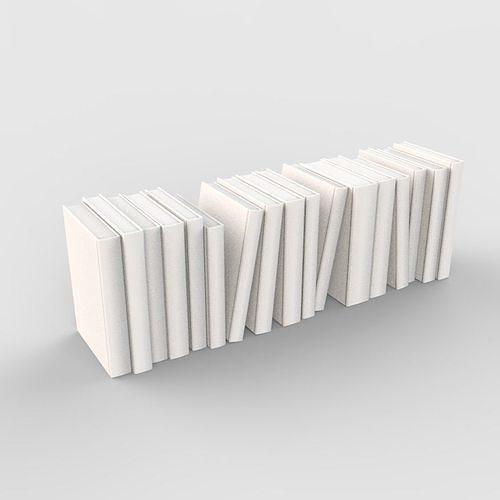 book set decorative 3d model max obj mtl 3ds fbx 1