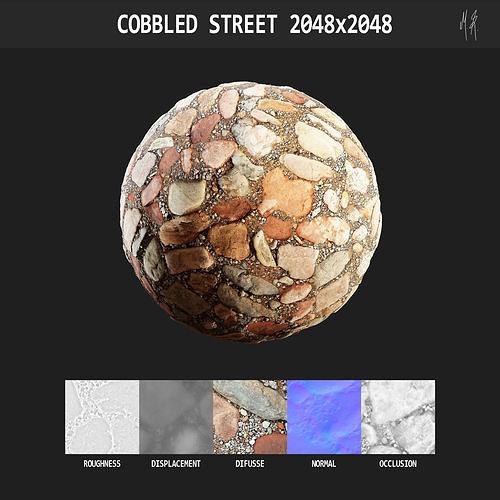 Cobbled Street Texture