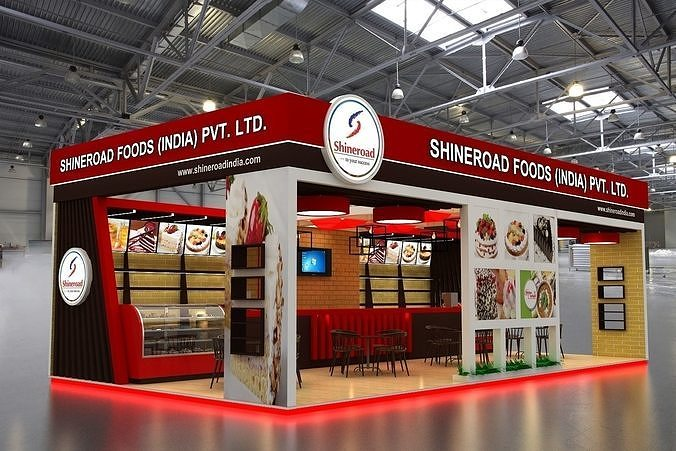 Exhibition Stand Design 3d Max : Exhibition stand design mtr d cgtrader