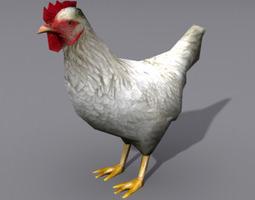 Lowpoly Hen 2 3D Model