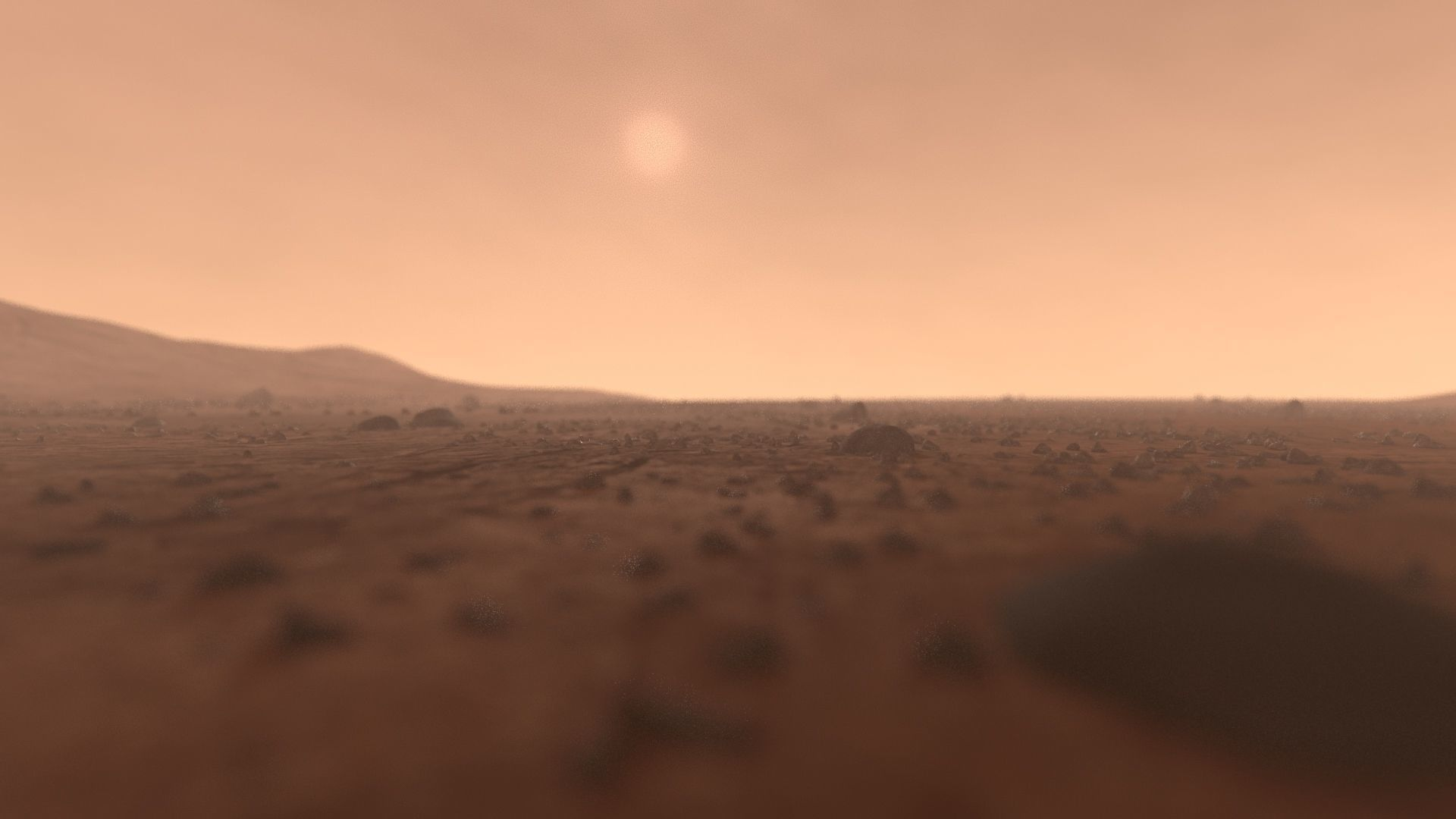 Mars surface - full scene