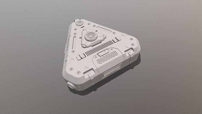 sci-fi props 3d model obj mtl 3ds fbx dxf 3dm ige igs iges 1