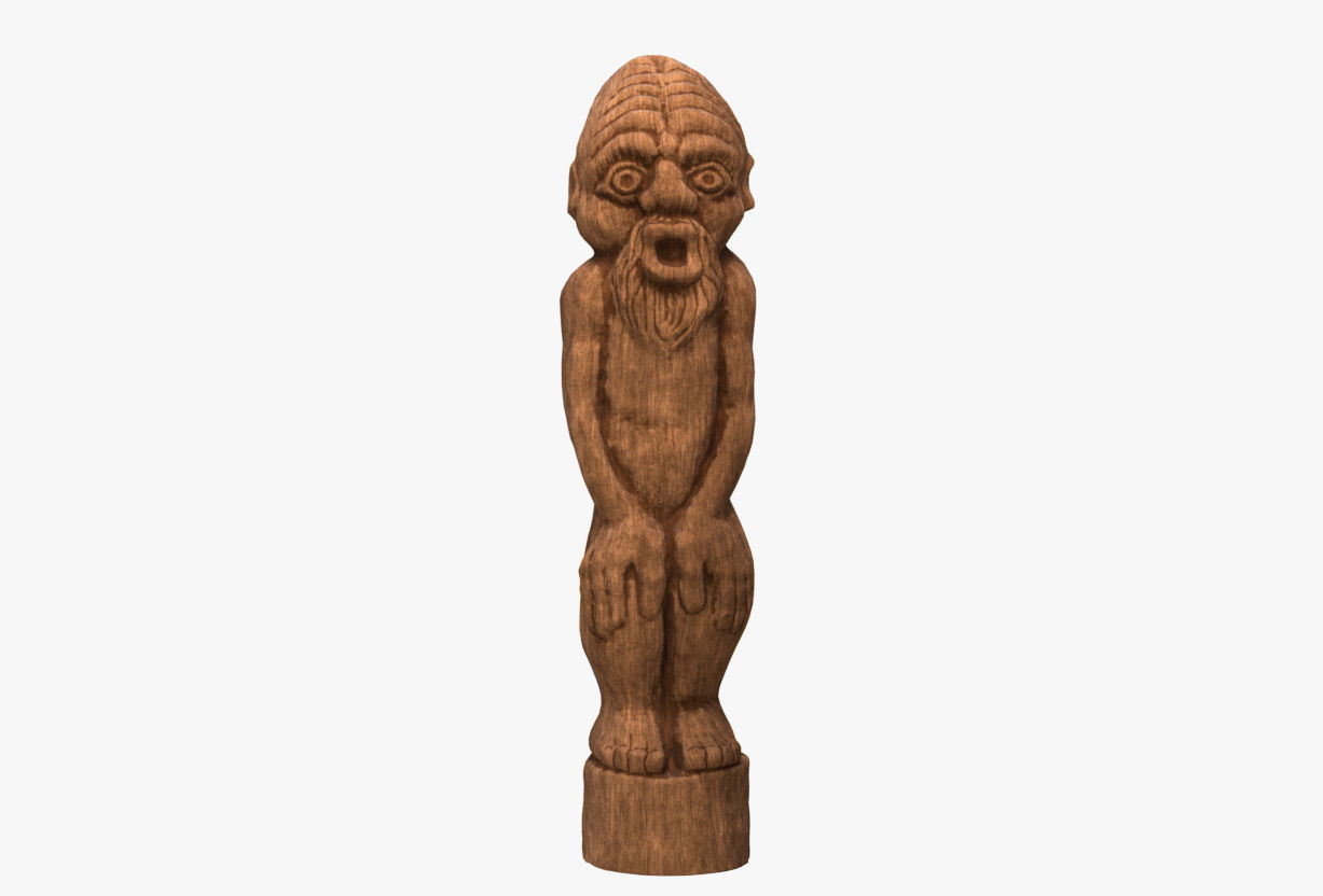 Wood Sculpture of a Forest Idol