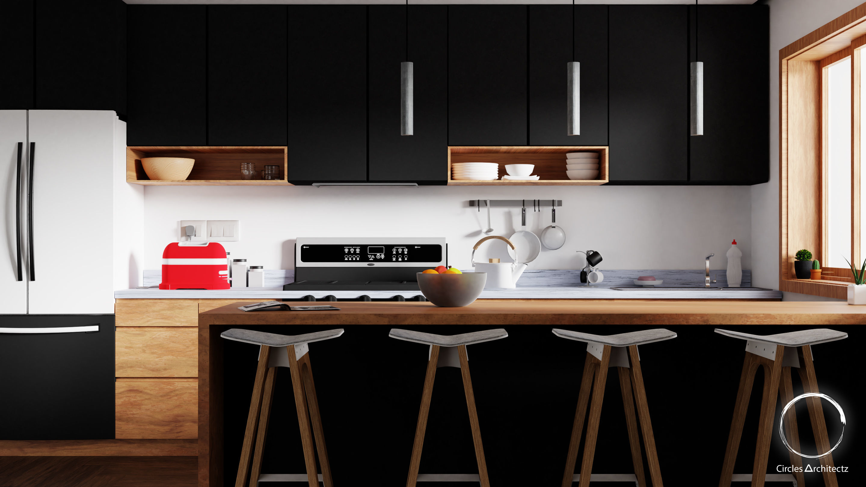 Minimal Kitchen design | 3D model