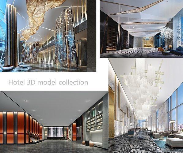 hotel 3dmodel collection offer 3d model max obj mtl 3ds fbx 1