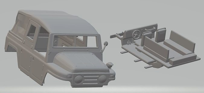 austin champ military jeep printable body car 3d model max fbx stl 1