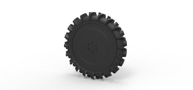 diecast wheel from swamp buggy 3d model obj mtl stl 1