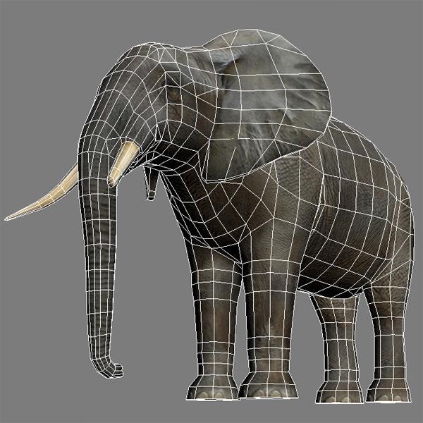 слон модель 3д макс скилом