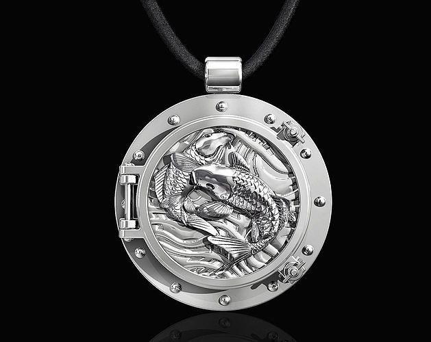 jumper fish in porthole-pendant