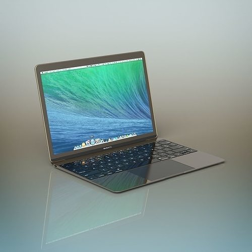 apple macbook pro 3d model max obj mtl fbx c4d ma mb 1