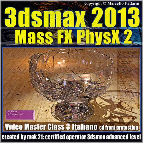3dsmax 2013 Mass Fx PhysX v 3 Italiano cd front
