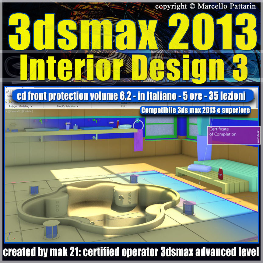 3dsmax 2013 Interior Design v 6 2 Italiano cd front