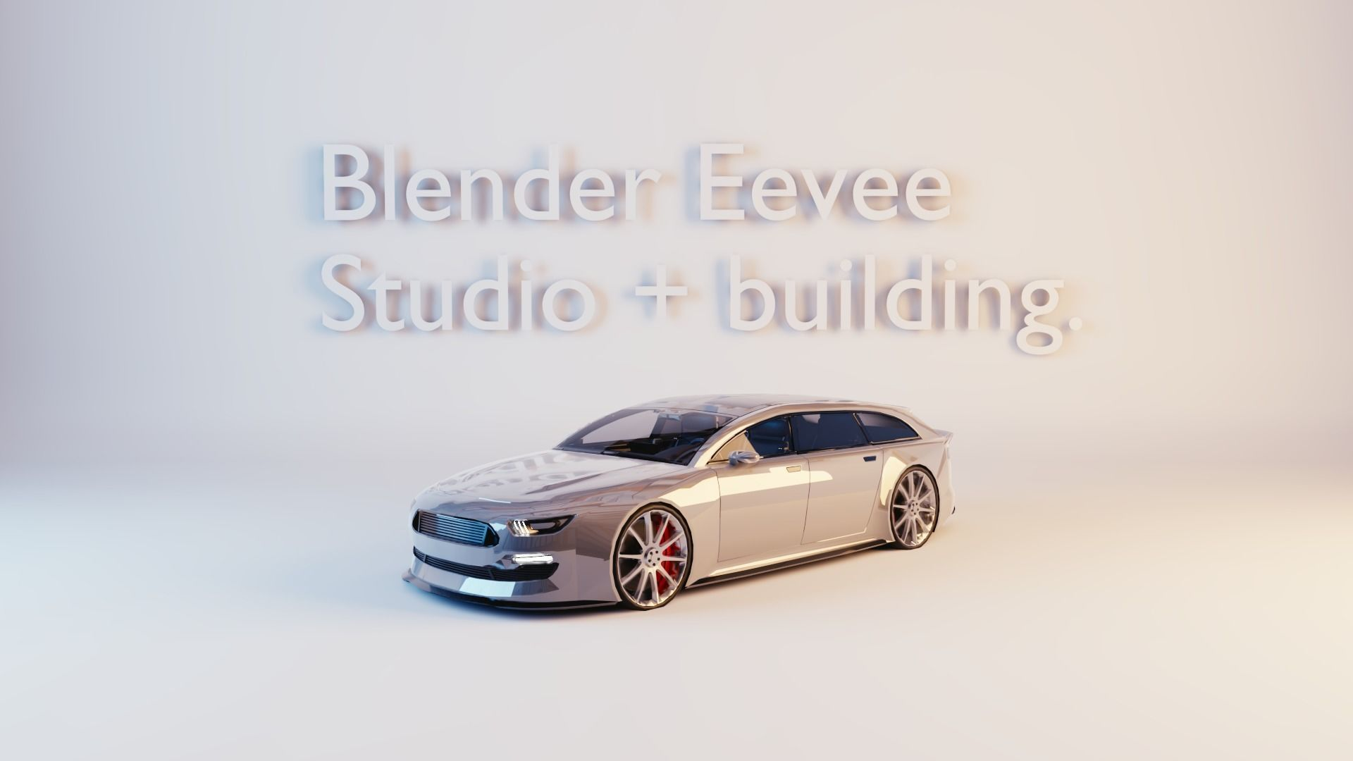 Blender Eevee studio and building | 3D model