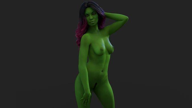 gamora naked