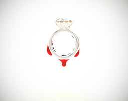 Blood Diamond Ring D18 3D Model