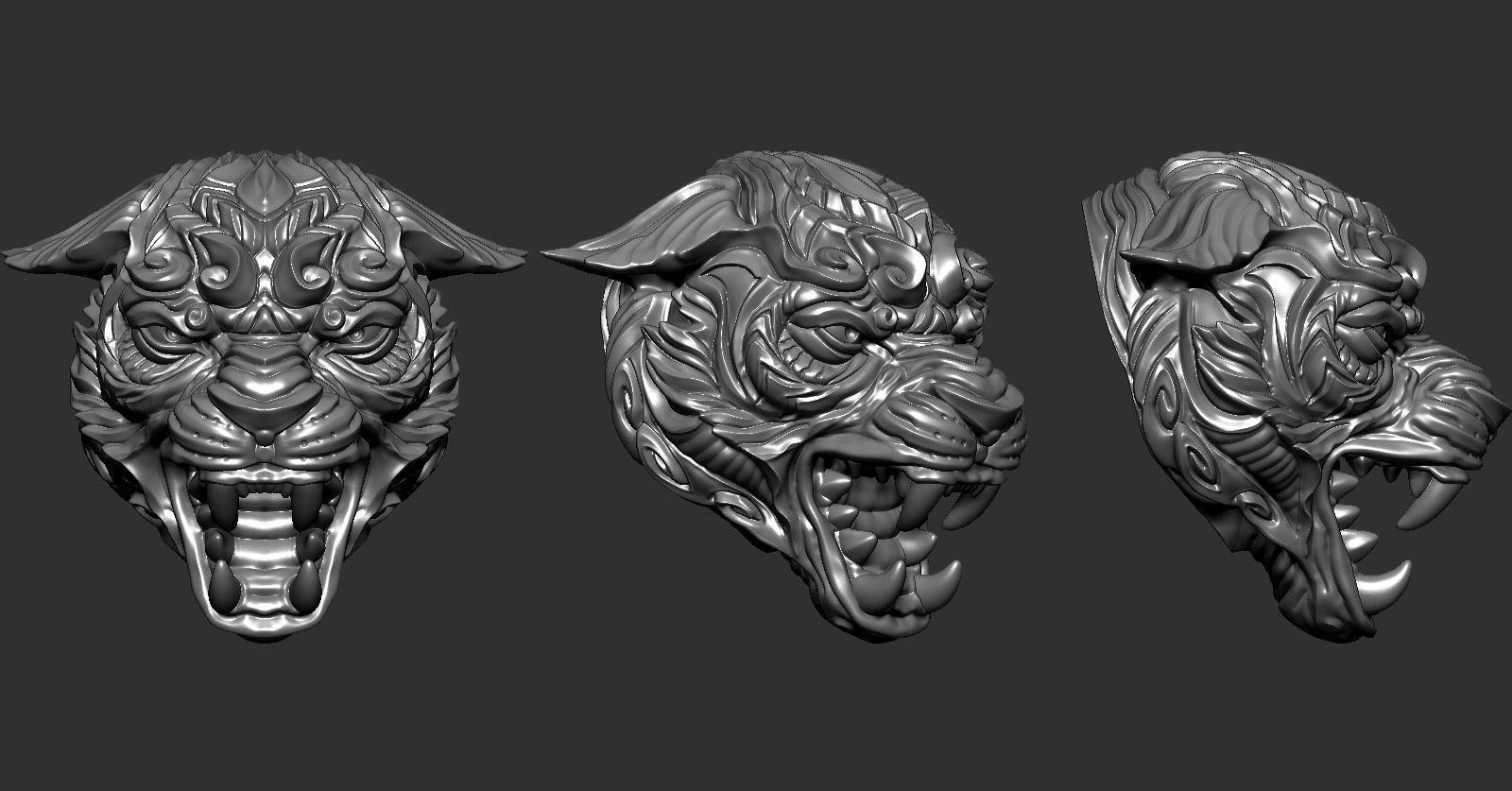 Panther Skull | 3D Print Model