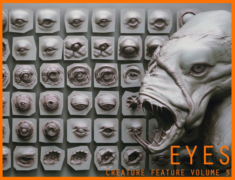 EYES - 28 Zbrush VDM creature eyes and 15 eyeballs