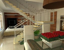 Projeto Escada Interiores 3D model