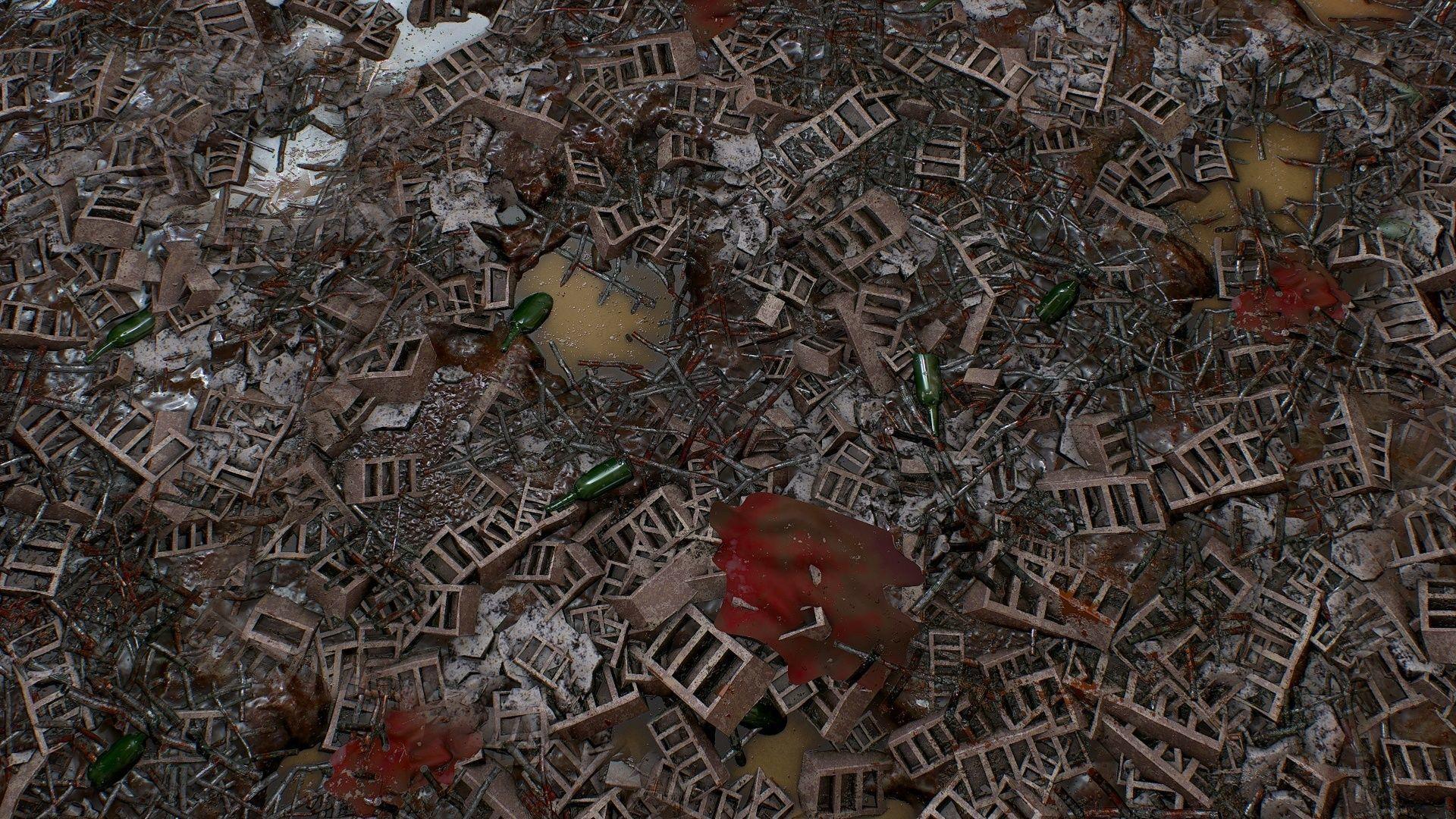 PBR seamless postapocalyptic dump ground textures